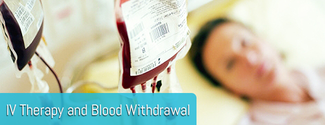 IV Therapy and Blood Withdrawal page